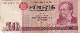 Billets - B1458 -  Allemagne ( DDR)   - Billet  50 Mark 1971 (type, Nature, Valeur, état... Voir 2 Scans) - [ 6] 1949-1990 : GDR - German Dem. Rep.