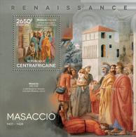 ca14417b Central African 2014 Painting Renaissance Massacio s/s
