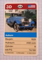 AUBURN 1929 - old car, oldtimer,  Voitures Anciennes  USA / SuperTrumf, playing card