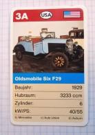 OLDSMOBILE SIX F29  1929 - old car, oldtimer,  Voitures Anciennes  USA / SuperTrumf, playing card