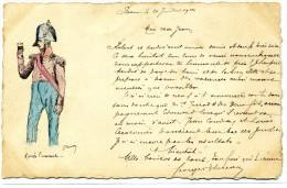 61- PREAUX - Carte Peinte à La Main En 1904 Par Le Notaire De Préaux , Courrier Envoyé à Son Fils - Après L'Assaut - Altri Comuni