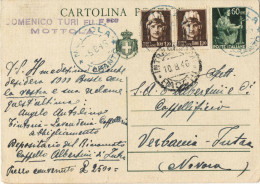 J498) ITALIA CARTOLINA POSTALE DEMOCRATICA 60 CENT. DEL 1945 VIAGGIATA IL 5.8.1946 - Postwaardestukken