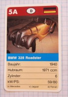 BMW 328 Roadster 1940  - Old Car, Oldtimer,  Voitures Anciennes Germany / SuperTrumf, Playing Card - Cars