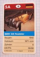 BMW 328 Roadster 1940  - old car, oldtimer,  Voitures Anciennes Germany / SuperTrumf, playing card