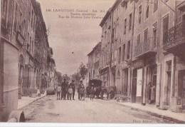 48 LANGOGNE Rue Dr Jules Conturie Animée Commerces MARECHAL FERRANT CHEVAL  Timbrée 1935 - Langogne