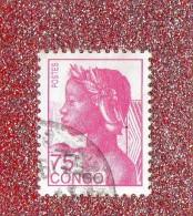 CONGO  --  ALLEGORIE  DE LA  REPUBLIQUE   --  **  75 F. **  --  POSTE  1991  --  BEG - Congo - Brazzaville