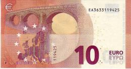 10 Euros 2014 Serie EA, E003H1 Signature Mario Draghi N° EA 3633119425 UNC - 10 Euro