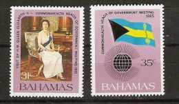 Bahamas  - 1985 Commonwealth meeting set of 2 MNH **   SG 718-9  Sc 586-7