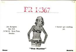 "Very Old QSL Card From Jan Korsgren ""The Hunter"", Stora Tuna, Sweden (PR 14367) - Year 1968 - CB"