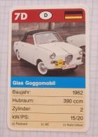 Glas Goggomobil 1962 - old car, oldtimer,  Voitures Anciennes Germany  / SuperTrumf, playing card