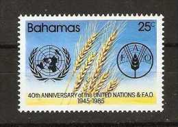 Bahamas  - 1985 UNO & FAO anniversaries MNH **   SG 717  Sc 585