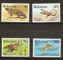 BAHAMAS  - 1984 Reptiles & amphibeans (Wildlife series 4) set of 4 MNH **   SG 690-3  Sc 564-7