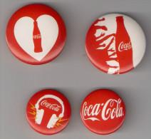 4 Badges COCA-COLA - Autres