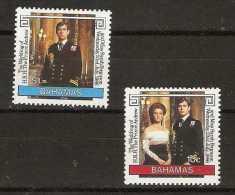 Bahamas  - 1986 Royal wedding set of 2 MNH **   SG 756-7  Sc 602-3