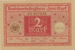 ALLEMAGNE / GERMANY - 2 MARK 1920-22 - Unclassified