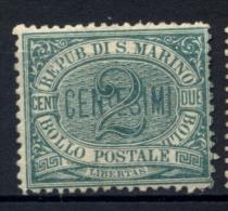 San Marino 1877 2c. Sass.1 **/MNH VF/F - Nuevos