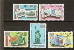Bahamas  - 1986 Ameripex sewt of 5 MNH **   SG 746-50  Sc 597-601