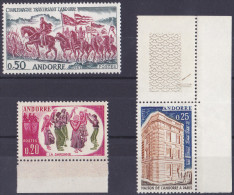 12581# ANDORRE LOT TIMBRES ** CHARLEMAGNE DANSE ETC Cote 36 Euros - Unused Stamps