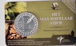 NEDERLAND 5 EURO 2010 HET MAX HAVELAAR VIJFJE IN COINCARD - [ 3] 1815-… : Royaume Des Pays-Bas