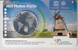 NEDERLAND 5 EURO 2014 HET MOLEN VIJFJE IN COINCARD - [ 3] 1815-… : Royaume Des Pays-Bas
