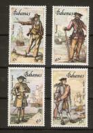 Bahamas  - 1987 Caribbean Privateers (pirates) Set Of 4 MNH **   SG 786-9  Sc 625-8 - Bahamas (1973-...)