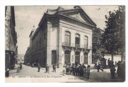 BREST  LE THEATRE ET LA RUE D AIGUILLON - Brest
