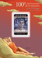 gu14303b Guinea 2014 Sport Baseball Joe DiMaggio and Marilyn Monroe s/s