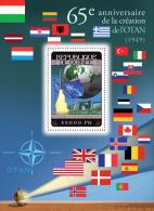 gu14306b Guinea 2014 NATO Flag Space s/s
