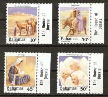 Bahamas  - 1988 Christmas carols set of 4 MNH **   SG 839-42  Sc 659-62