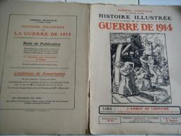 61-L'Histoire Illustrée Guerre 1914-Braux-Arlon-Armée De Lorraine- Bataille Des Ardennes-Combat De Marville -Bazeilles - Zeitungen & Zeitschriften