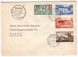 Lettre Suisse Série Pro Patria 1946 (21946) - Storia Postale