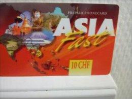 Asia Fast 10 CHF Prepaidcard Spain