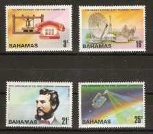 Bahamas - 1976 Telephone centenary set of 4 MNH **   SG 456-9  Sc 384-7