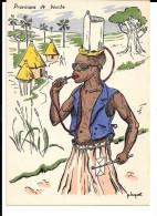 Humour Colonial Signé P.Huguet. Provisions De Bouche. Porteur D´eau, Enveloppe. - Huguet