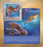 gu14203b Guinea 2014 Octopus s/s