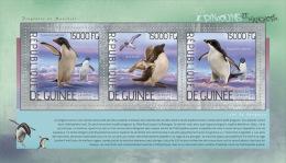 gu14207a Guinea 2014 Bird Penguins s/s