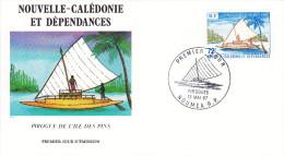 PIROGUES 2 ENVELOPPES FDC N° 165 ( 535/36 TP ) 13.05.1987 - FDC