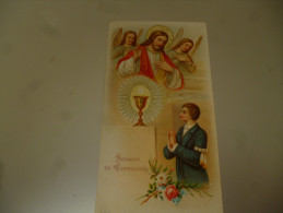 Souvenir Image Pieuse Communion Claudine WILLOCQ Mainvault 1952 - Communion