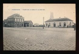 POPERINGE - PLACE DE LA GARE ET STATION