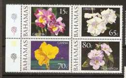 Bahamas  - 2004 Royal Horticultural (flowers) block of 4 (set) MNH **   SG 1347-50  Sc 1106-9