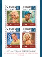 slm14311a Solomon Is. 2014 Sport Joe DiMaggio and Marilyn Monroe s/s