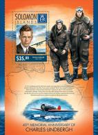 slm14316b Solomon Is. 2014 Airplane Charles Lindbergh s/s