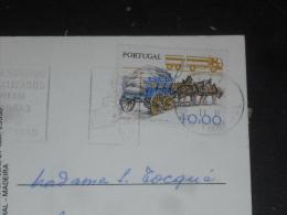 LETTRE PORTUGAL AVEC YT 1411 - CHARRETTE ET CAMION REMORQUE - MADEIRE MADEIRA BRODEUSE BRODERIE - - 1910-... République