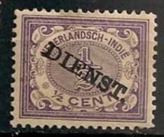 Timbres - Pays-Bas - Indes Néerlandaises - 1902-1909 - Dienst. - 1/2 Cent. - - Netherlands Indies