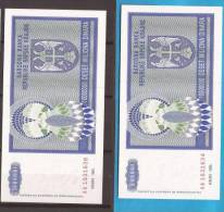 602  CROAZIA 1993 REPUBLIKA SRPSKA KRAJINA BANCONOTA  KNIN LUX-UNC - Croatia