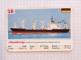 HAMBURG Hapag - Lloyd AG Germany / Playing Card, Super Trumpf - Boats
