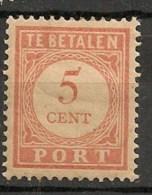 Timbres - Pays-Bas - Indes Néerlandaises - 1902-1909 - Taxes - PORT - 5 Cent. -