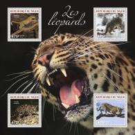 nig14307a Niger 2014 Leopards s/s