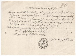 Argenta - Certificato Di Battesimo 1872 - Chiesa Di San Giacomo Maggiore - Ferrara - Documentos Antiguos