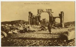 Palmyre Tadmor Vue Des Ruines Cachet Service Renseignements De Banjak Homs Tresor Et Postes 612 - Syrie